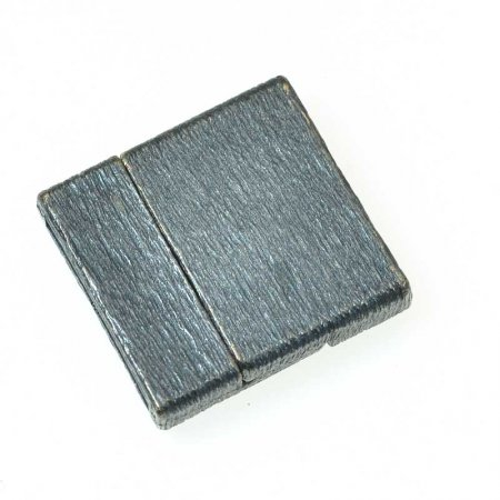 Magnetic Clasp for Flat Leather - ID 20mm Brushed Square - Gunmetal