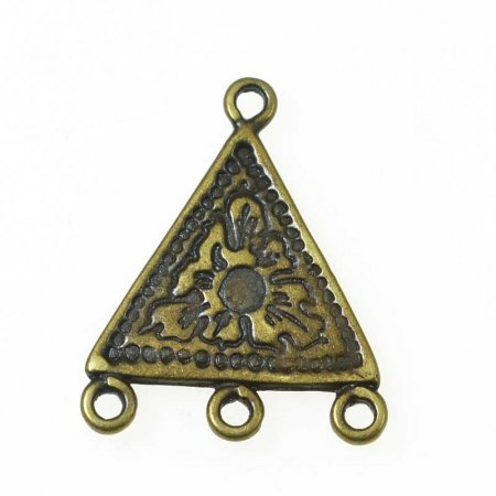 Link - 1:3 Etched Triangle - Antiqued Brass (2)