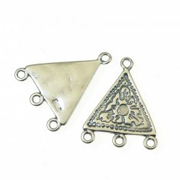 Link - 1:3 Etched Triangle - Antiqued Silver (2)
