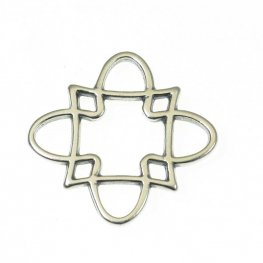 Link - Clover Square - Antiqued Silver (4)