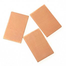 Metal Sheet - 0.5x0.87in Rectangle Blanks - Copper (Pack of 6)