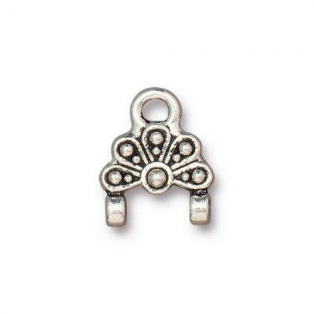 Stitch-In Finding - Oasis Link - Antiqued Silver (2)