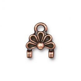 Stitch-In Finding - Oasis Link - Antiqued Copper (2)