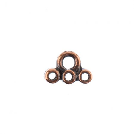 Stitch-In - Connector Link - Antiqued Copper (4)