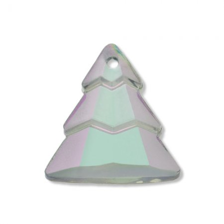 Glass Pendant - Evergreen Trees - Crystal Matt Coment Argent Light Celadon (2)