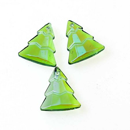 Glass Pendant - Evergreen Trees - Tourmaline Glacier Blue (2)