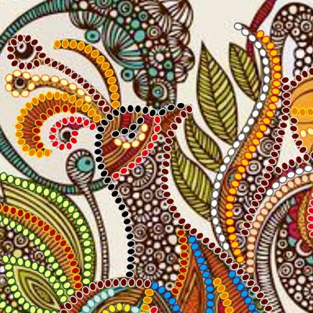 Bead Embroidery - Pattern / Chart - Fairy Tale bird