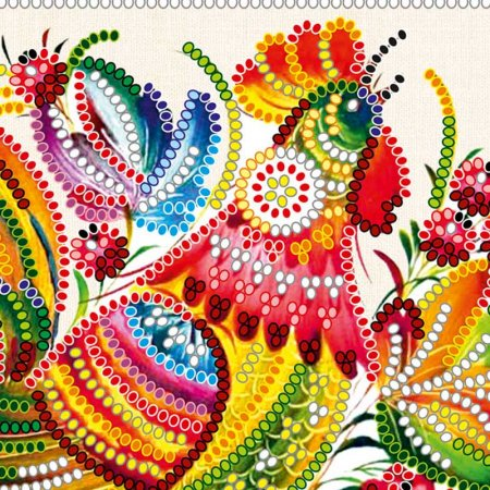 Bead Embroidery - Pattern / Chart - Deco Cockerel