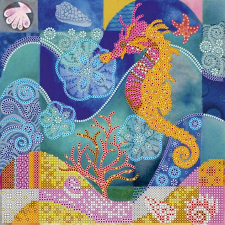 Bead Embroidery - Pattern / Chart - Sea Horse