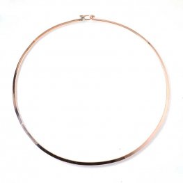 Torq Necklace - Flat Wire Circle - Bright Copper