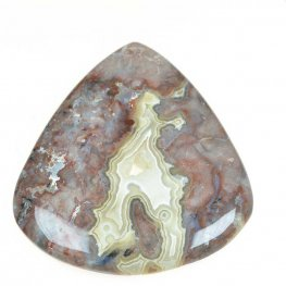 OOAK - Cabochon - Freeform Triangle - Crazy Lace Agate