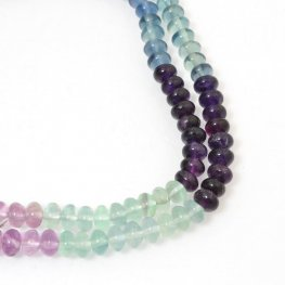 Stone Beads - 6mm Rondelles - Fluorite - Multicolour Mix (strand)