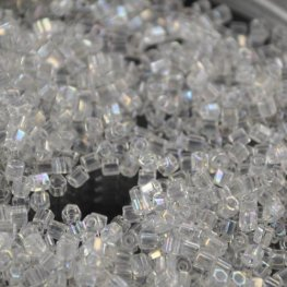 Japanese Seedbeads - 11/0 Toho Hexagon - Transparent Rainbow Crystal