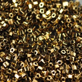 Japanese Seedbeads - 11/0 Toho Hexagon - Metallic Bronze