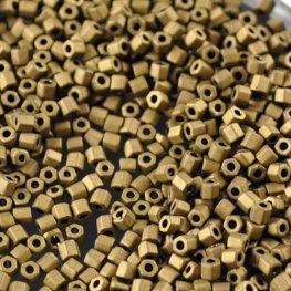 Japanese Seedbeads - 11/0 Toho Hexagon - Matte Dark Sand