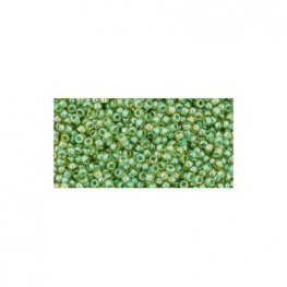 Japanese Seedbeads - 15/0 Toho Seedbeads - Inside Color Topaz/Mint Julep