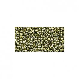 Japanese Seedbeads - 15/0 Toho Seedbeads - Gold Luster Green Tea
