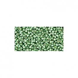 Japanese Seedbeads - 15/0 Toho Seedbeads - Galvanized Mint Green [Permanent Finish]