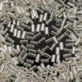Japanese Seedbeads - #1 Toho Bugles - Silver Lined Crystal