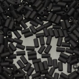 Japanese Seedbeads - #1 Toho Bugles - Matte Black