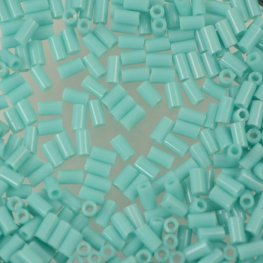Japanese Seedbeads - #1 Toho Bugles - Opaque Light Green Turquoise