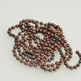 Chain - 2.4mm Ball Chain - Antiqued Copper