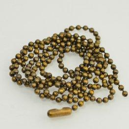 Chain - 2.4mm Ball Chain - Brass Oxide