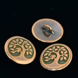 Metal Buttons - Tree of Life - Antiqued Copper
