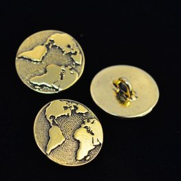 Metal Buttons - Earth - Antique Gold