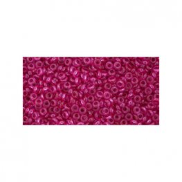 Japanese Seedbeads - 11/0 2.2mm Toho Demi Round Seedbeads - Hybrid ColorTrends Transparent Pink Yarrow