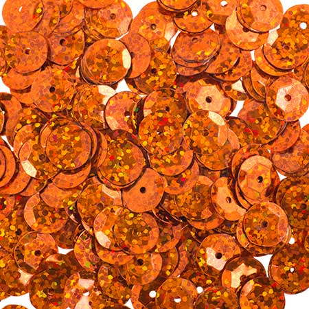 Sequins Round Cup 6mm - Hologram Orange (Pack)