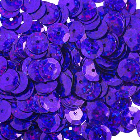 Sequins Round Cup 10mm - Hologram Purple (Pack)