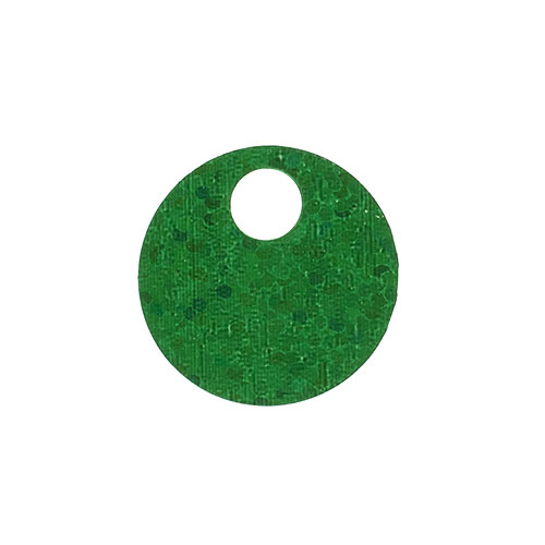 Sequins Round Large Hole Spangle 20mm - Hologram Green (Pack)