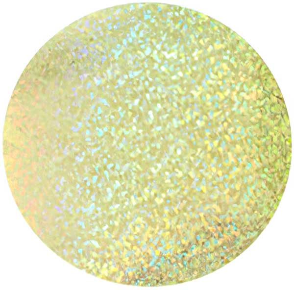 Sequins Round No Hole 50mm - Hologram Yellow (Pack)