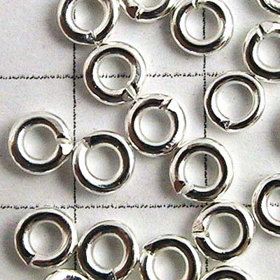 Jump Rings Open 3mm - Silver Plated (100)
