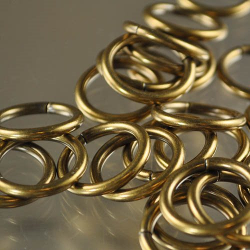Jump Rings Open 20mm - Antique Gold