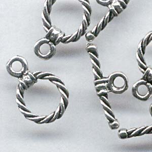 Toggle Clasp - Dainty Rope - Pewter