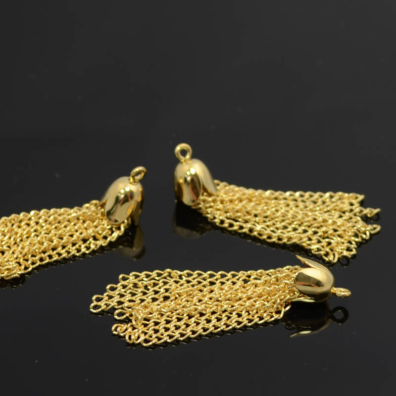 Components - 35mm Chain Tassel - Gold Plated