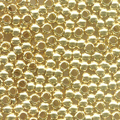 Crimp Beads - 2.5mm - Gold Plated (100)