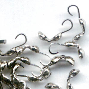 Clamshell Bead Ends - - Silvertone (20)