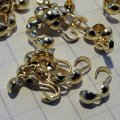 Clamshell Bead Ends - - Goldtone (100)