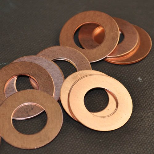 Metal Sheet - 25mm Washer Blank - Copper