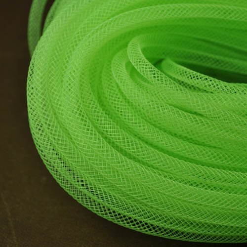 Stringing - 4mm Nylon Mesh Tube - Neon Green (50 meters)