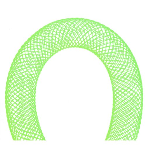 Stringing - 9mm Nylon Mesh Tube - Lime Green (30 meters)