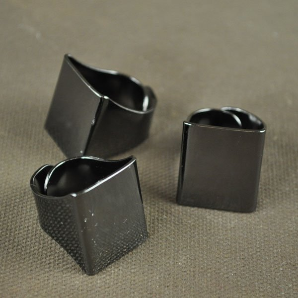 Findings - Flat Scarf Ring - Gunmetal