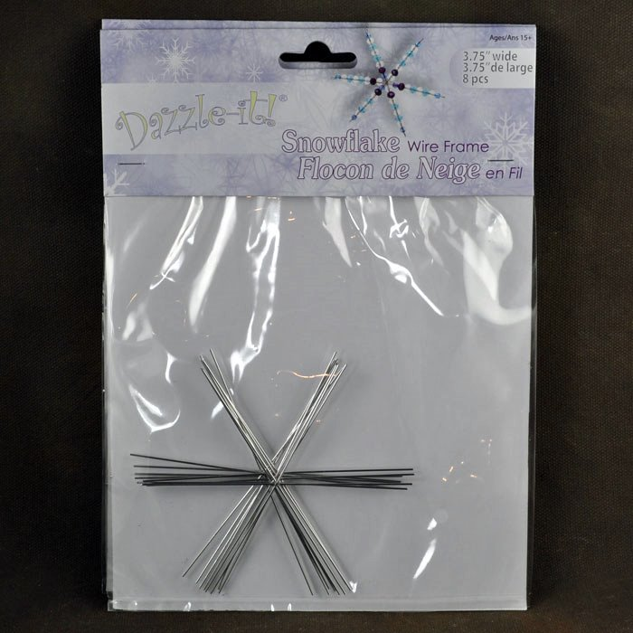 Wire Armature Form - 3.75in Snowflake Ornament - (Pack of 8)
