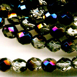 Firepolish - 8mm Faceted Round - Crystal Azuro (25)