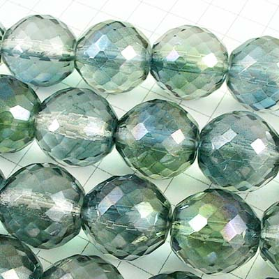 Firepolish - 14mm Rich Cut Round - Crystal Seagreen