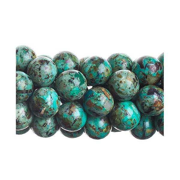 Stone Beads - 8mm Round - African Turquoise (Comp) (strand)