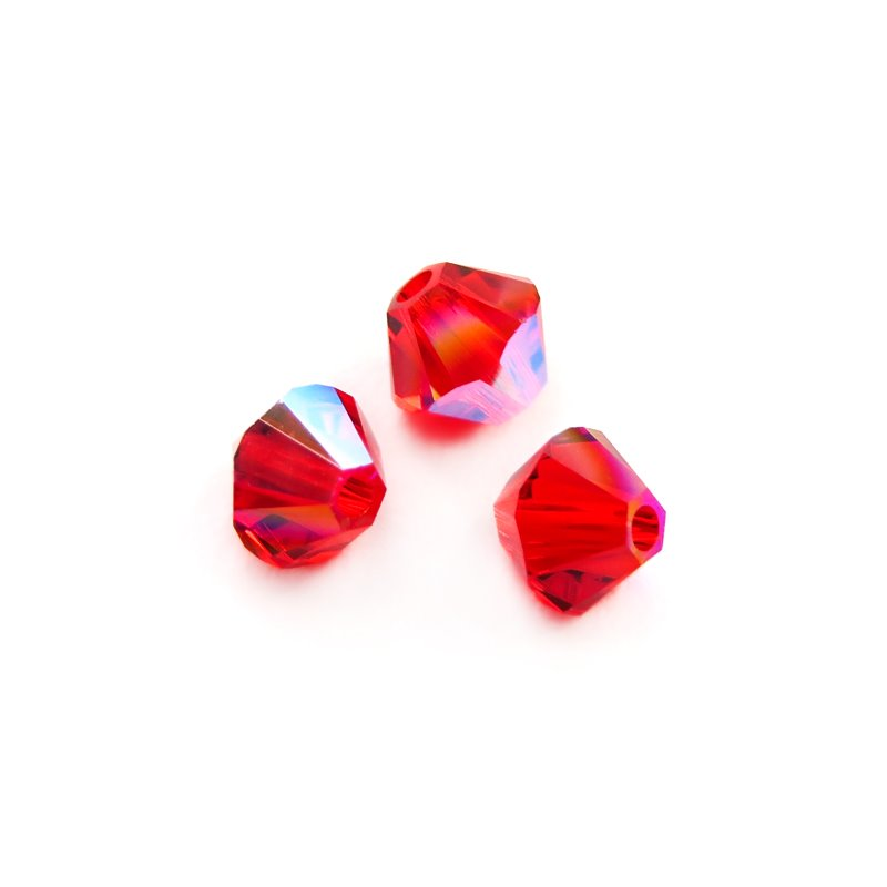 Swarovski Bead - 4mm Faceted Bicone (5301/5328) - Light Siam Shimmer (36)